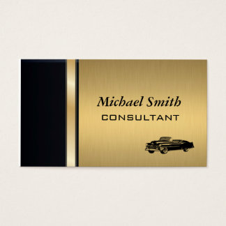 Yrkesmässig elegant flott lyxig guld- gammal bil visitkort