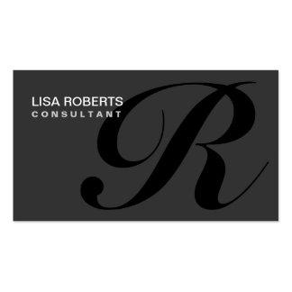 Yrkesmässig elegant Makeupkonstnär för Monogram Set Av Standard Visitkort