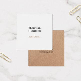 Yrkesmässig elegant minsta Kraft brun vit Fyrkantigt Visitkort