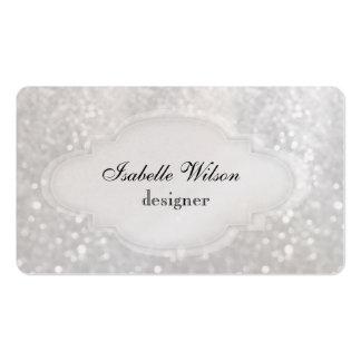 Yrkesmässig elegant modern lyxig glitterbokeh set av standard visitkort