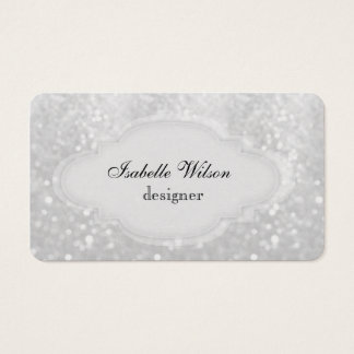 Yrkesmässig elegant modern lyxig glitterbokeh visitkort