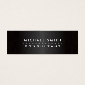 Yrkesmässig elegant modern svart borstad metall litet visitkort