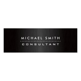 Yrkesmässig elegant modern svart borstad metall set av smala visitkort