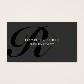 Yrkesmässig elegant modern svart för Monogram Visitkort