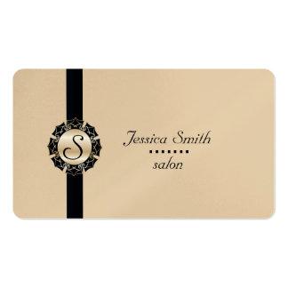 Yrkesmässig elegant modern vanlig monogram set av standard visitkort