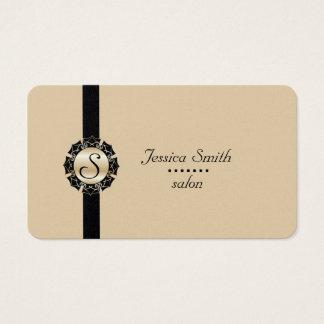 Yrkesmässig elegant modern vanlig monogram visitkort