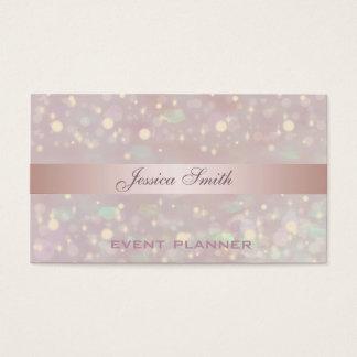 Yrkesmässig elegant samtida glitterbokeh visitkort