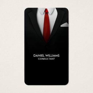 Yrkesmässig elegant unik modern kostymkonsulent visitkort