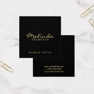 Yrkesmässig enkel modern svart och guld fyrkantigt visitkort