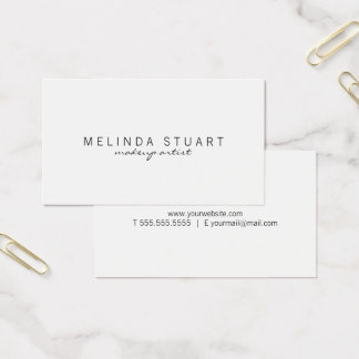 Yrkesmässig enkel modern vit visitkort