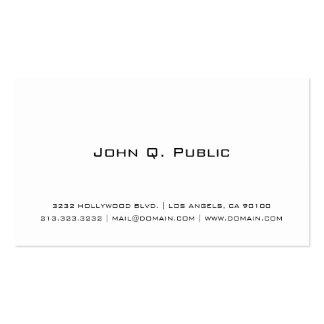 Yrkesmässig enkel vit set av standard visitkort