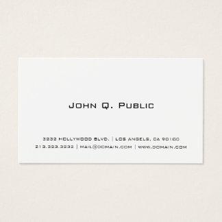 Yrkesmässig enkel vit visitkort