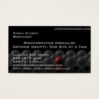 Yrkesmässig forskarevisitkortvetenskap visitkort