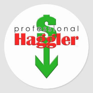 Yrkesmässig Haggler klistermärke