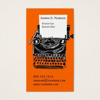 Yrkesmässig konstnärlig skrivmaskinsförfattare för visitkort