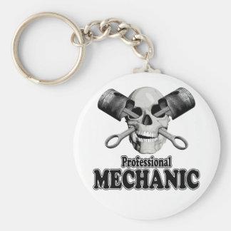 Yrkesmässig mekaniker rund nyckelring