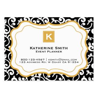 Yrkesmässig modern blom- modeaffär, svart set av breda visitkort