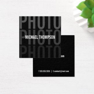 Yrkesmässig modern fotograf fyrkantigt visitkort