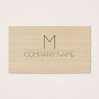 Yrkesmässig modern Wood kornMonogram Visitkort