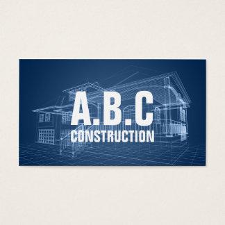 Yrkesmässig ritning för hus för visitkort