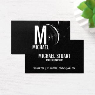 Yrkesmässig svartvit fotografi visitkort