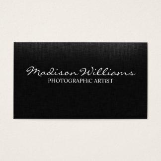 Yrkesmässig unik elegant fotografisk konstnär visitkort