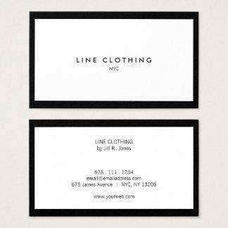 Yrkesmässig visitkort för lyxig Boutique