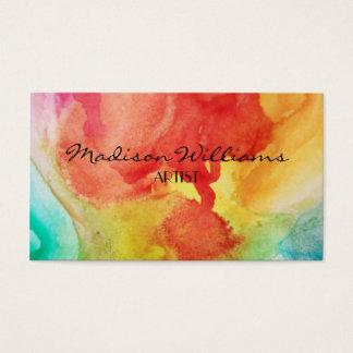Yrkesmässiga färgrika unika konstnärer visitkort