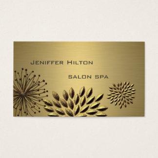 Yrkesmässiga lyxiga eleganta guld- löv visitkort