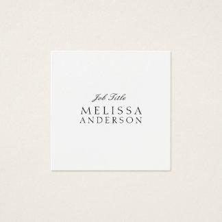Yrkesmässiga moderna eleganta Minimalistisch Fyrkantigt Visitkort