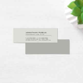 Yrkesmässiga moderna idérika eleganta grå färg litet visitkort
