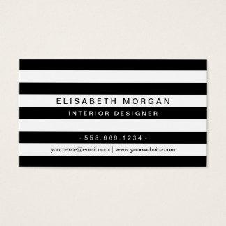 Yrkesmässiga moderna randar för klassikersvartvit visitkort