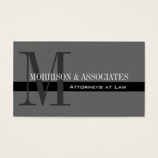 Yrkesmässiga visitkortgrå färg för advokat visitkort