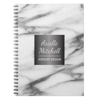Yrkesmässigt elegantt alabaster- marmormönster anteckningsbok
