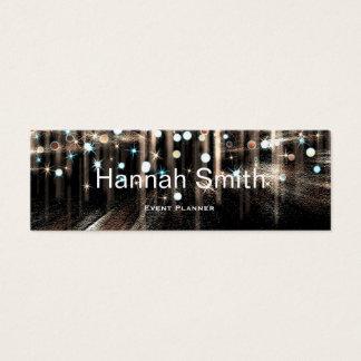 Yrkesmässigt elegantt modernt lyxigt glitter litet visitkort
