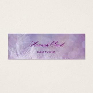 Yrkesmässigt elegantt modernt lyxigt purpurfärgat litet visitkort