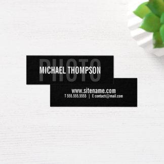 Yrkesmässigt modernt djärvt för fotograf litet visitkort