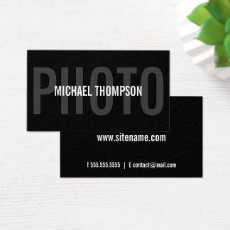 Yrkesmässigt modernt djärvt för fotograf visitkort