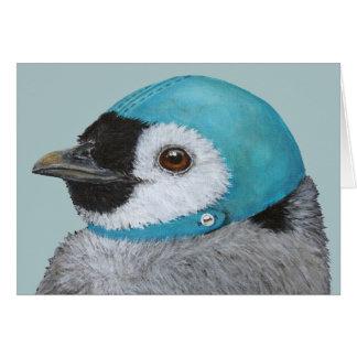Ystert pingvinjulkortet hälsningskort
