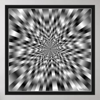 Ytterligheten rusar optisk illusion poster