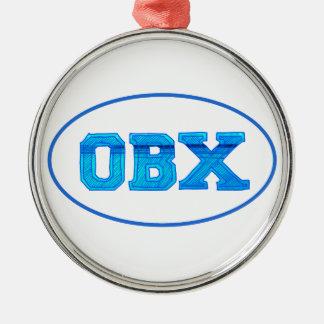Yttre banker för OBX Julgransprydnad Metall