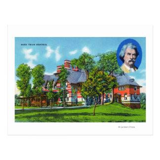 Yttre beskåda av den Mark Twain minnesmärken Vykort