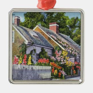 Yttre beskåda av det äldsta huset i Town Julgransprydnad Metall