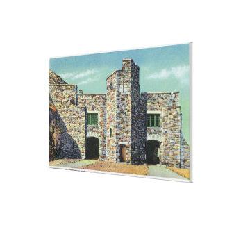 Yttre beskåda av det Whiteface Mt slottet Canvastryck