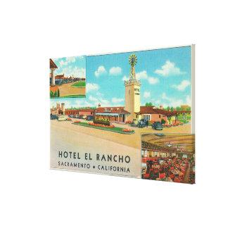 Yttre beskåda av hotellet el Rancho Canvastryck