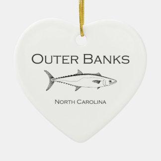 Yttre Mackerel för bankerNorth Carolina kung Julgransprydnad Keramik