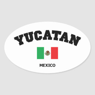 Yucatan kvarter ovalt klistermärke
