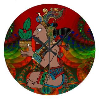 Yucatan Psychedelic Mexicano Visiones Stor Klocka