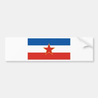 yugoslavia flagga bildekal