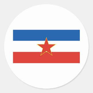 yugoslavia flagga runt klistermärke